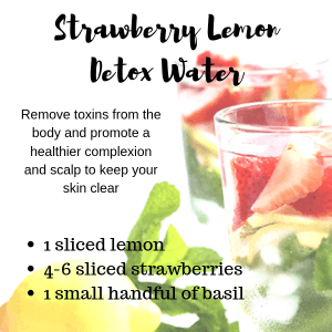 A detox water can help improve your skin by altering your diet.