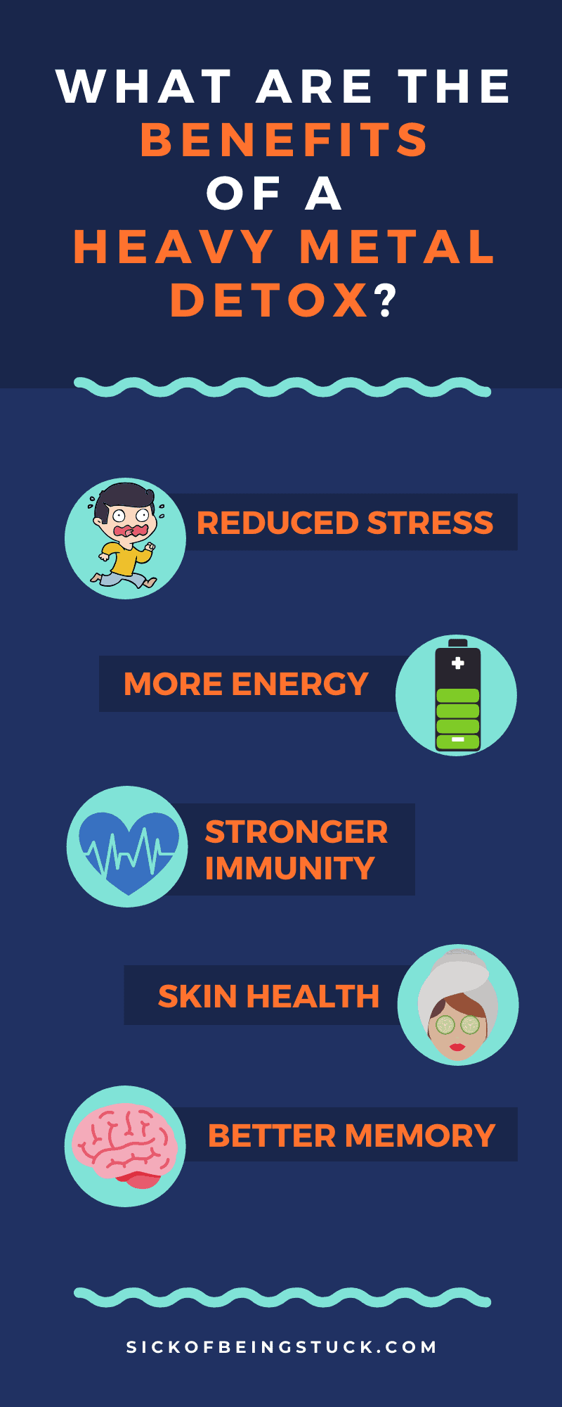 There are many benefits of a heavy metal detox!