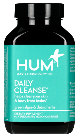 HUM Daily Cleanse has the right form of zinc for acne and also other beneficial ingredients to help detoxify your body from the imbalances that are causing your acne.