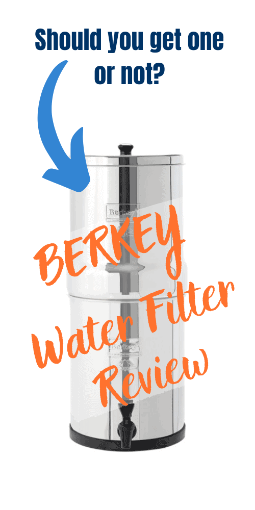 To learn more about Berkey water filters, read my Berkey water filter review.