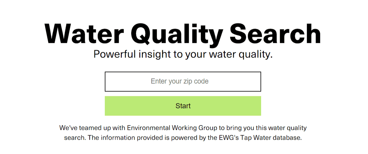 Enter your zip code here to check your area's water quality to see if you need a Berkey water filter.