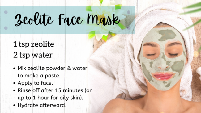 This DIY zeolite facemask is an easy way to start a zeolite detox.