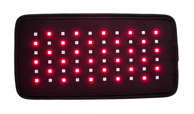 Red light therapy pad can help ease body pain.